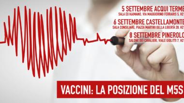 [EVENTI] Vaccini: La Posizione del M5S. Ne parleremo ad Acqui Terme, Castellamonte, Pinerolo