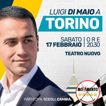 Luigi Di Maio a Torino | Sabato 17 febbraio Teatro Nuovo