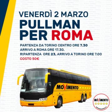 VENERDI' 2 MARZO: PRENOTAZIONE PULLMAN PER ROMA | FINE CAMPAGNA ELETTORALE
