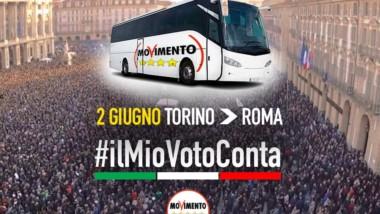 Sabato 2 giugno Pullman da Torino a Roma! #IlMioVotoConta