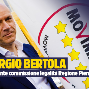 """M5S: """"SODDISFATTI ED ORGOGLIOSI DI BERTOLA PRESIDENTE COMMISSIONE LEGALITA'. IL PD ORA S'INDIGNA MA HA LA MEMORIA CORTA"""""""
