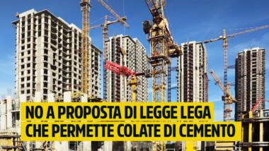 """Martinetti: """"Proposta di legge Lega permette colate di cemento e toglie strumenti ai comuni. Testo inaccettabile. Intanto il PD tace"""""""