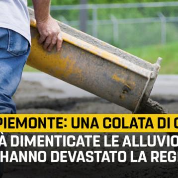 """Fase 2, Martinetti (M5S): """"Riparti Piemonte è una colata di cemento, già dimenticate le alluvioni che hanno devastato la regione"""""""