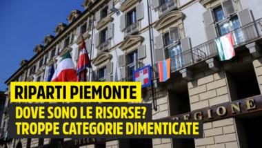 M5S: Riparti Piemonte, Cirio e Lega dimenticano interi settori economici e non dicono con quali risorse sosterranno questa misura