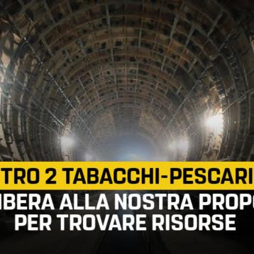 """Metro 2. Frediani (M5S): """"Via libera in Regione alla nostra proposta per trovare risorse sulla tratta Tabacchi-Pescarito. Segnale politico importante"""