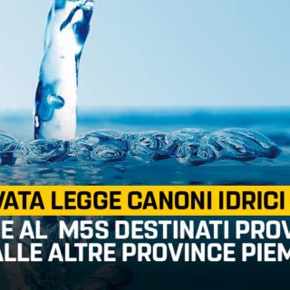 Gruppo (M5S): Approvata legge canoni idrici al VCO. Grazie al contributo del M5S destinati proventi anche alle altre province piemontesi