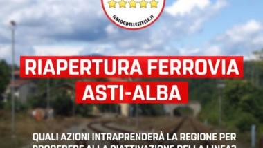 Martinetti (M5S): Errore strategico non puntare sulla riapertura della linea Asti Alba. Dalla Regione un progetto che non convidiviamo.