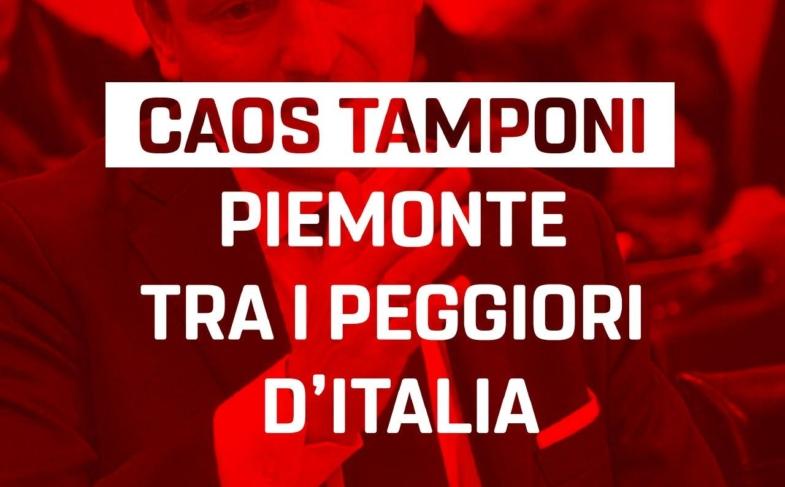 Sacco, Frediani (M5S): Tamponi, Piemonte fanalino di coda. Dalla giunta solo annunci, pretendiamo risposte