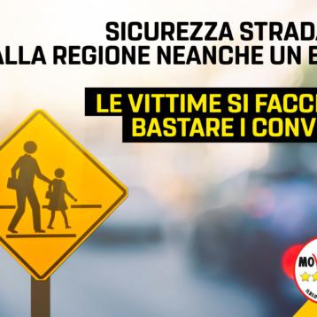 Martinetti (M5S): Sicurezza stradale, dalla Regione neanche un euro. Le vittime si facciano bastare i convegni