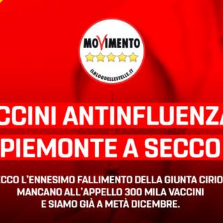 """Sanità, Sacco – Frediani (M5S): """"Vaccini antinfluenzali, Piemonte a secco. Come si intende rimediare adesso?"""""""