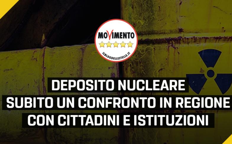 """Nucleare, Gruppo M5S: """"Proponiamo un Consiglio Regionale aperto per discutere con tutti i soggetti interessati"""""""
