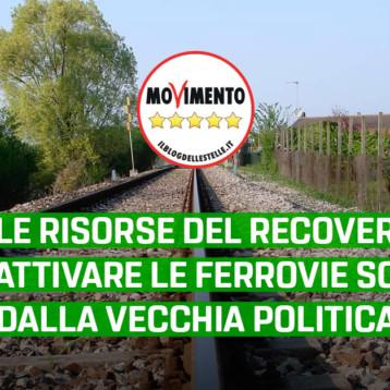 """Trasporti, Sacco – Martinetti (M5S): """"Usare le risorse del recovery fund per riattivare le ferrovie sospese dalla vecchia politica"""""""