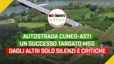 """Gruppo M5S: """"Cuneo-Asti, un successo targato M5S. Dagli altri solo silenzi e critiche"""""""