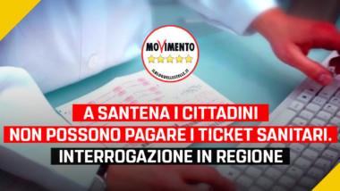 """Sanità, Disabato (M5S): """"A Santena i cittadini non possono pagare i ticket sanitari. Interrogazione in regione per riportare il servizio sul territorio"""""""